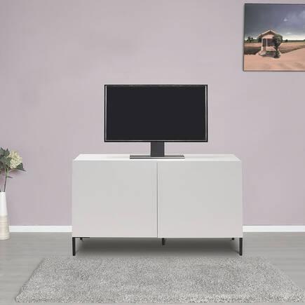 Sonsuz 2 Kapaklı Tv Ünitesi - Diamond Beyaz - Thumbnail
