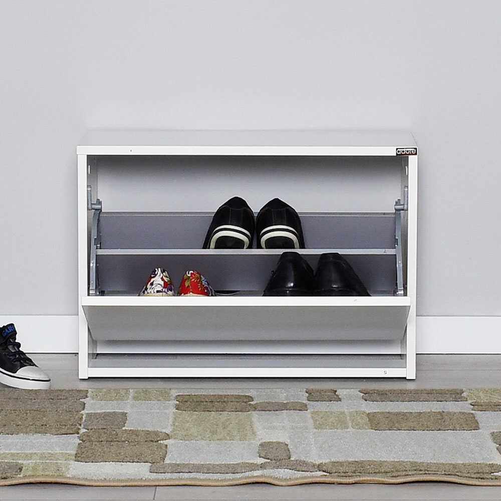 Step Oturaklı Ayakkabılık - Diamond Beyaz