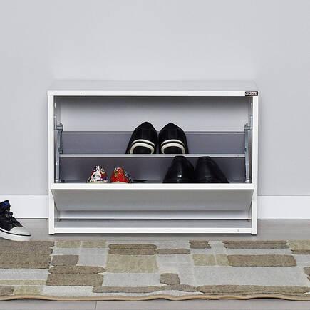 Step Oturaklı Ayakkabılık - Diamond Beyaz - Thumbnail