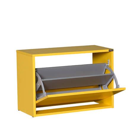 Adore Mobilya - New Step Oturaklı Ayakkabılık - Sarı
