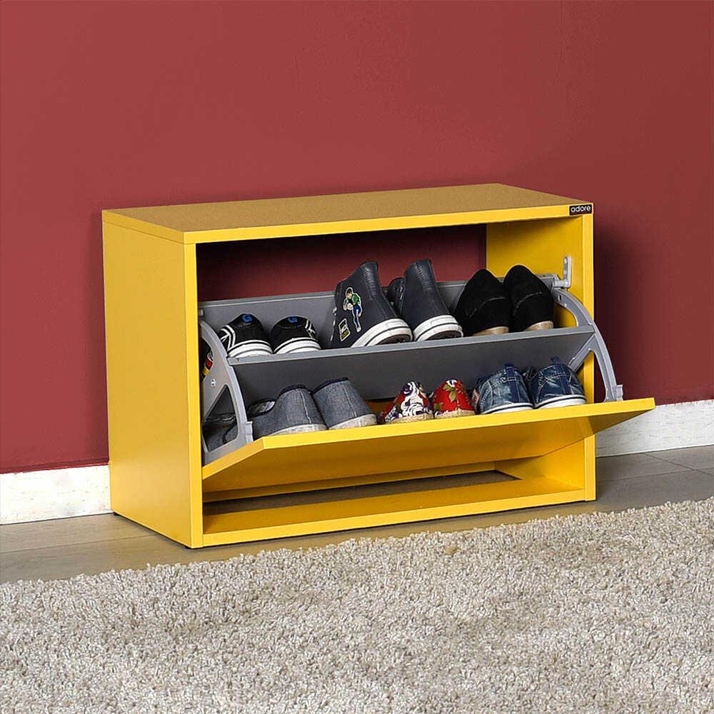 New Step Oturaklı Ayakkabılık - Sarı