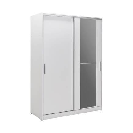 Adore Mobilya - Sürgü Kapılı Aynalı Gardırop - Beyaz