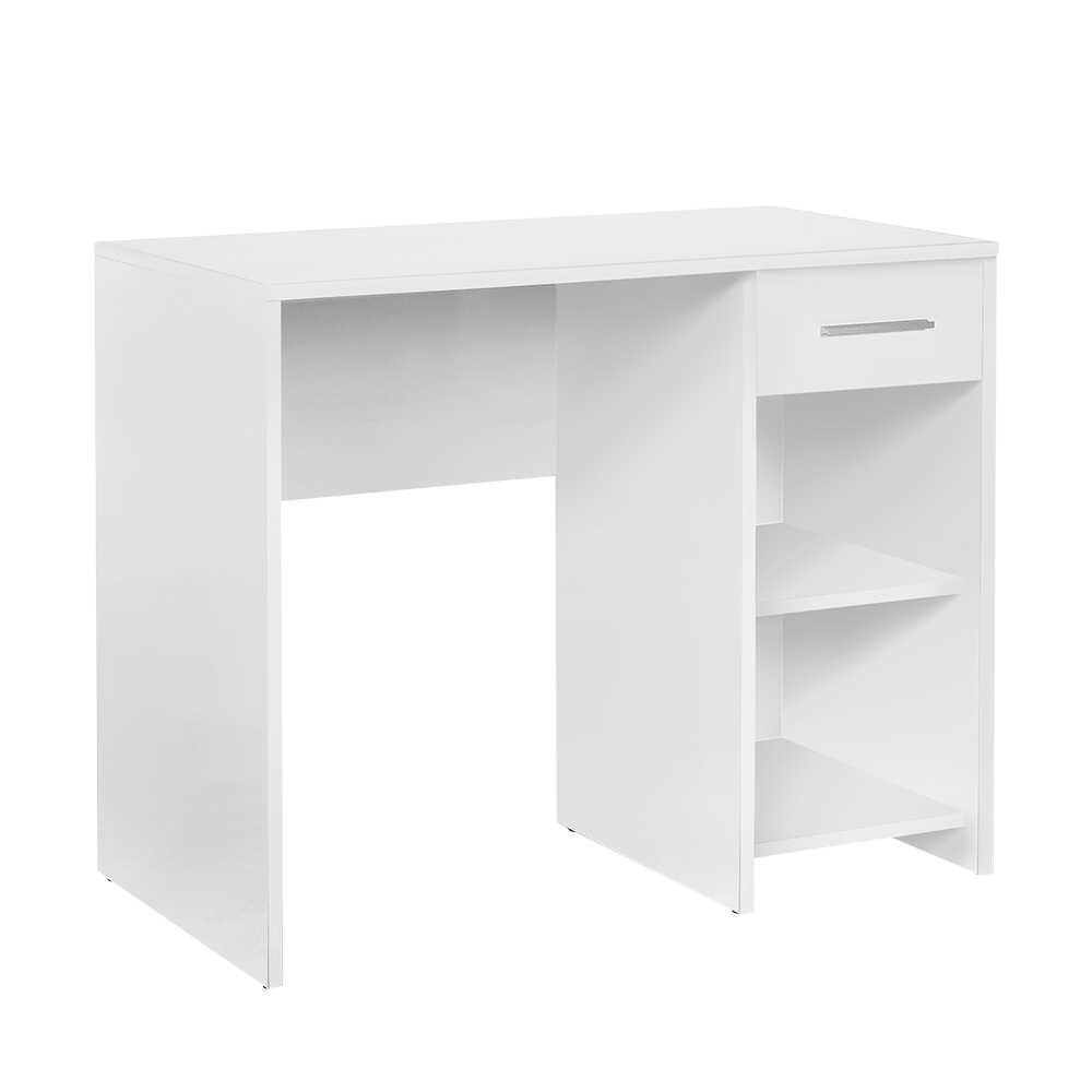 Trendline Çekmeceli Çalışma Masası - Beyaz